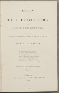 "Title page of ""Lives of the Engineers"""