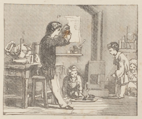 Children performing experiments