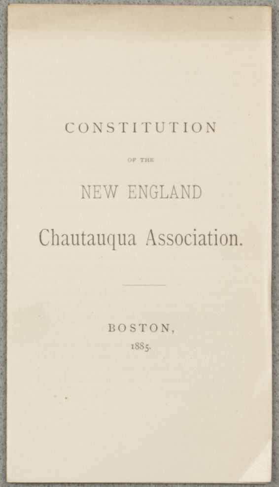 Chatauqua Association Constitution