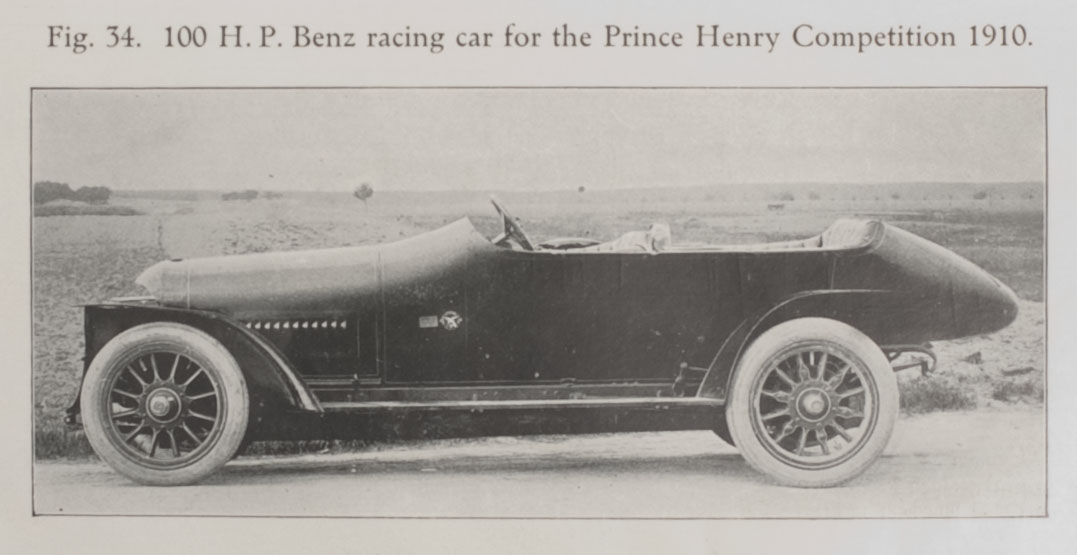 100 H.P. Benz racing car