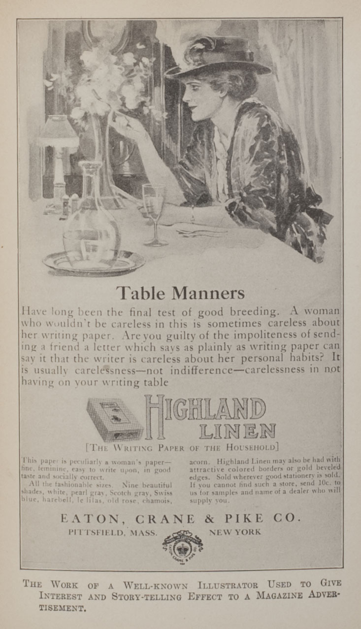 Highland Linen advertisement