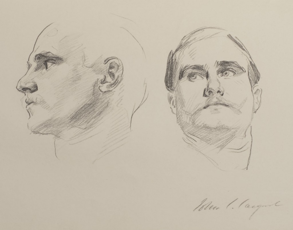 "John Singer Sargent, ""Two Heads"""