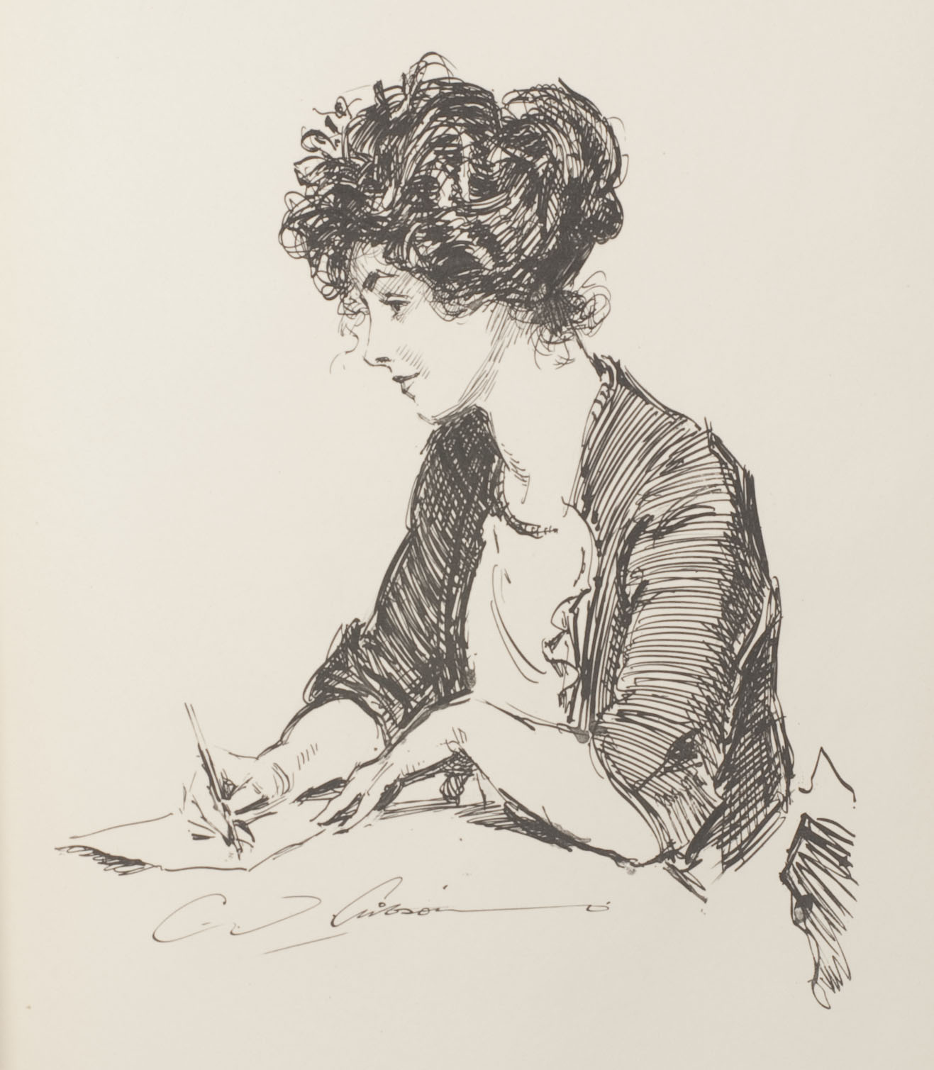 "Charles Dana Gibson, ""The Girl He Left Behind Him"""