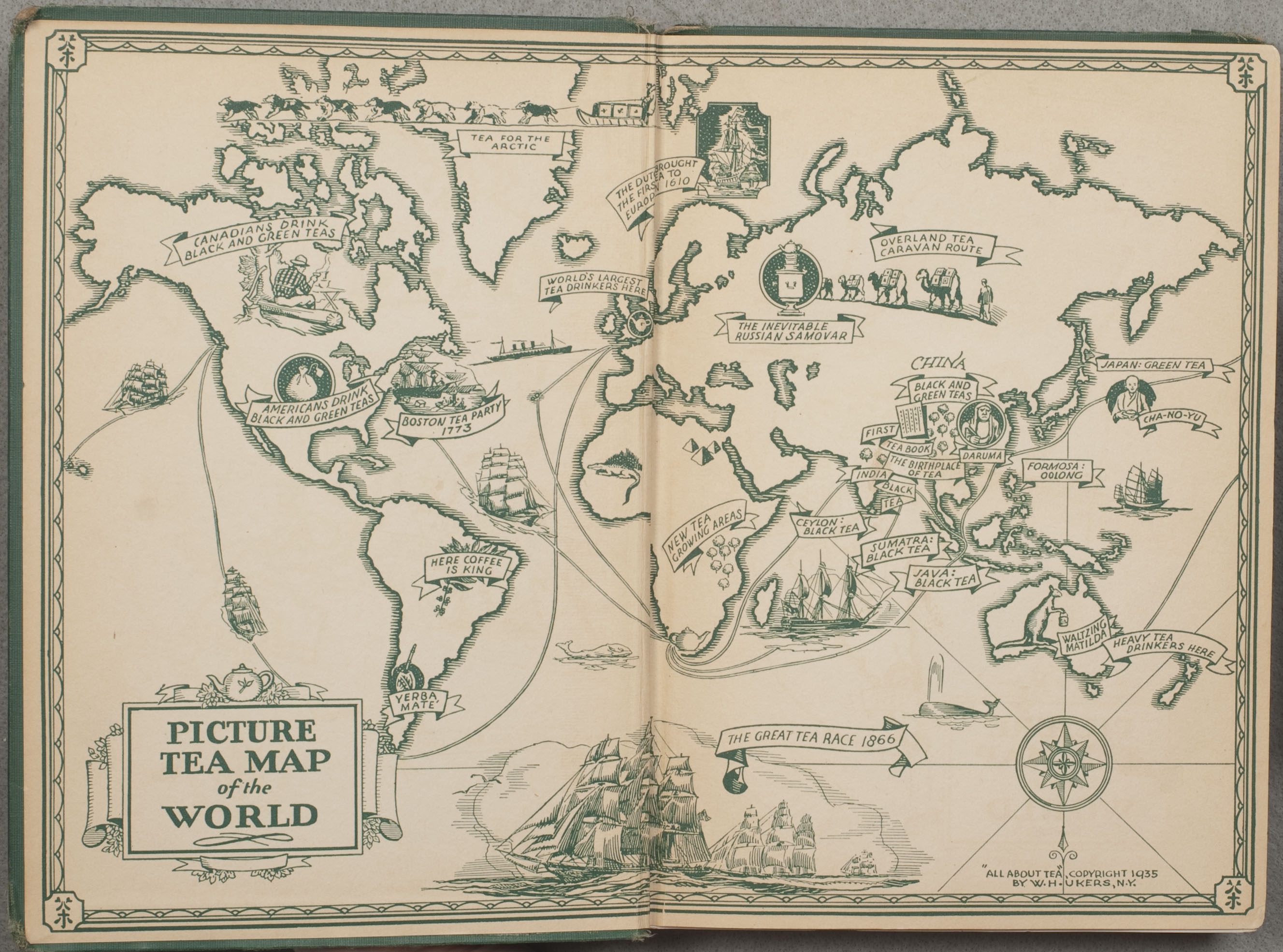 """Picture tea map of the world"""