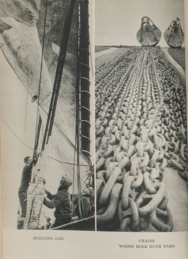 Hoisting sail, chains