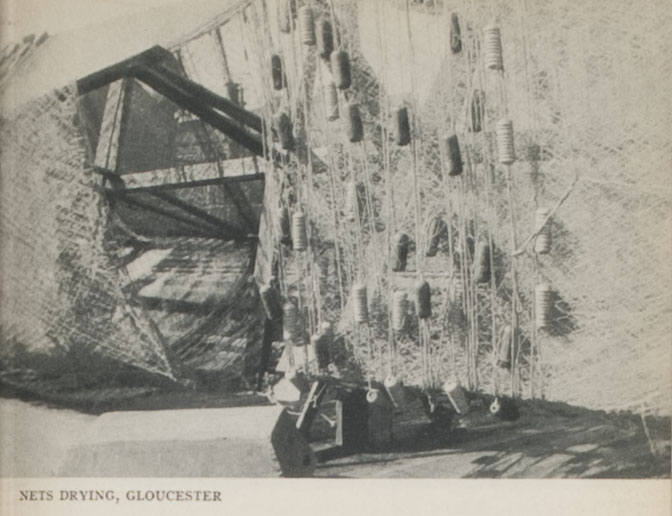 """Nets drying, Gloucester"""