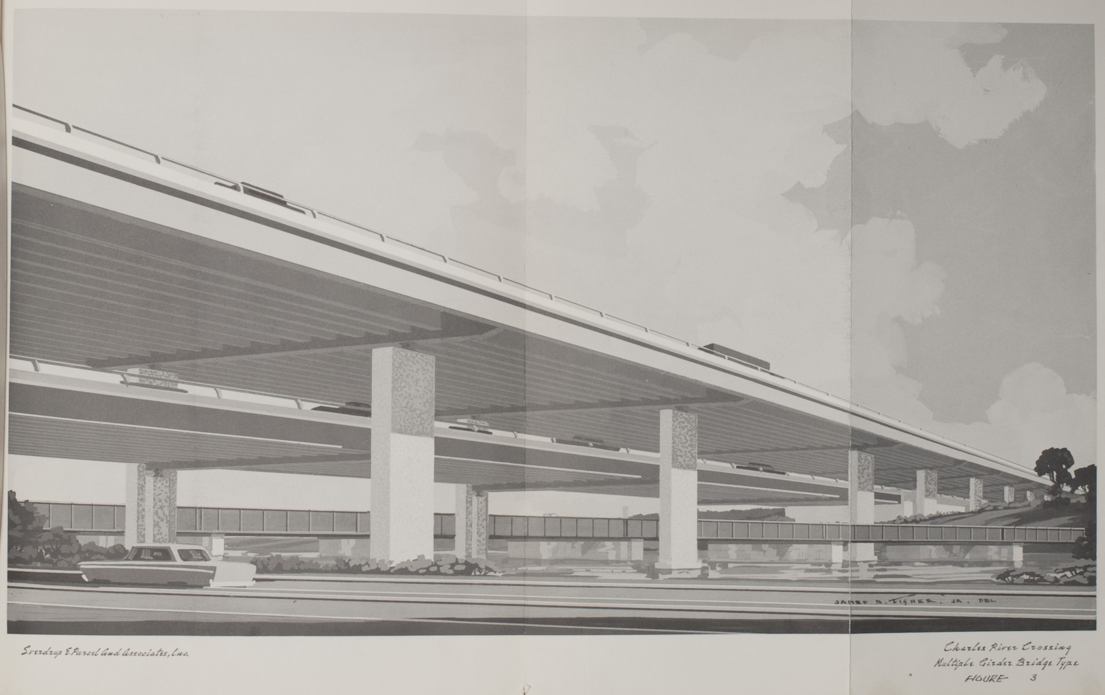 Charles River Crossing overpass