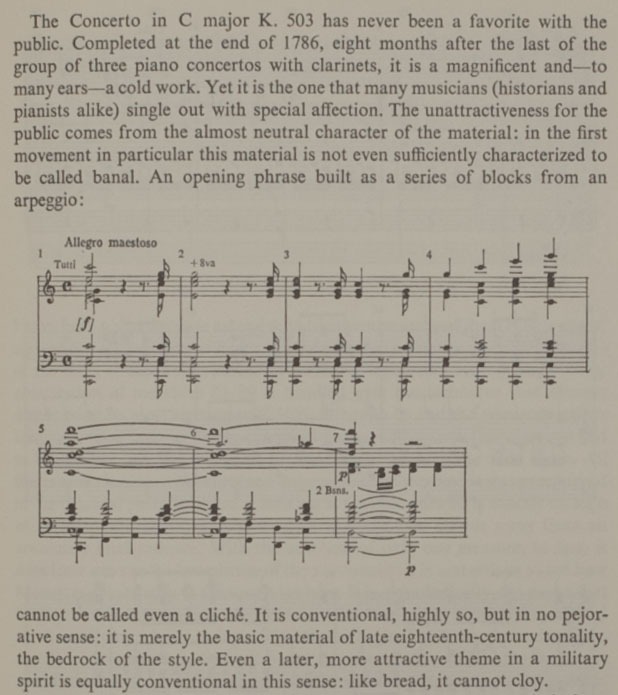 Text on Mozart's Concerto in C major K. 503