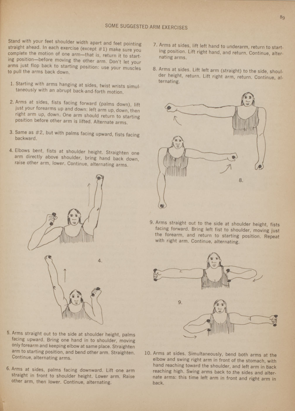 Suggested arm exercises