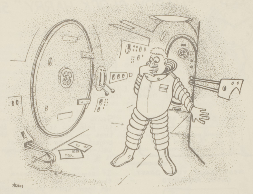 Space mail cartoon