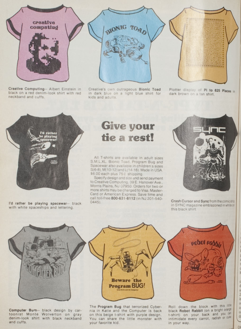 T-shirt advertisement