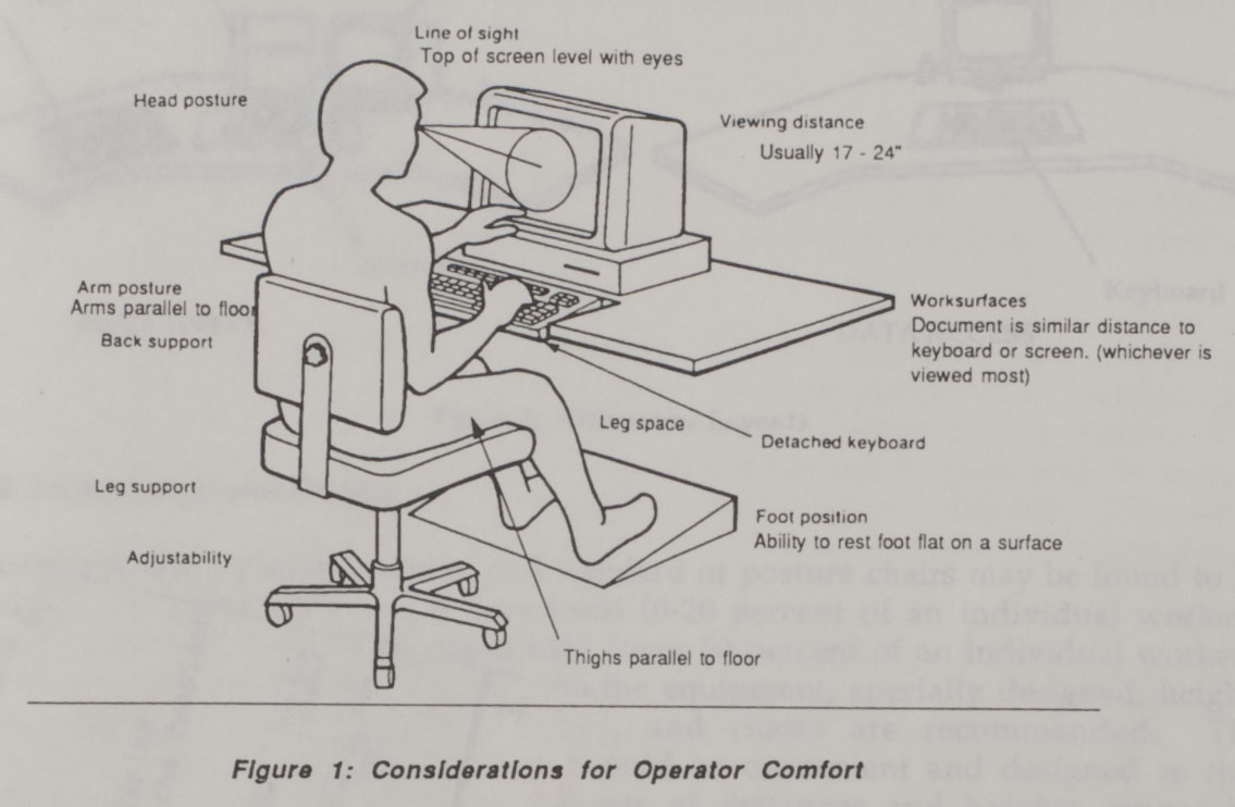 Ergonomics diagram