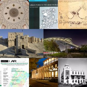 Collage containing examples of material added to Archnet since Jauary 1, 2016