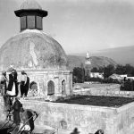 Restoration of Qa'a dome, exterior 1940 - Photographer: Michel Écochard