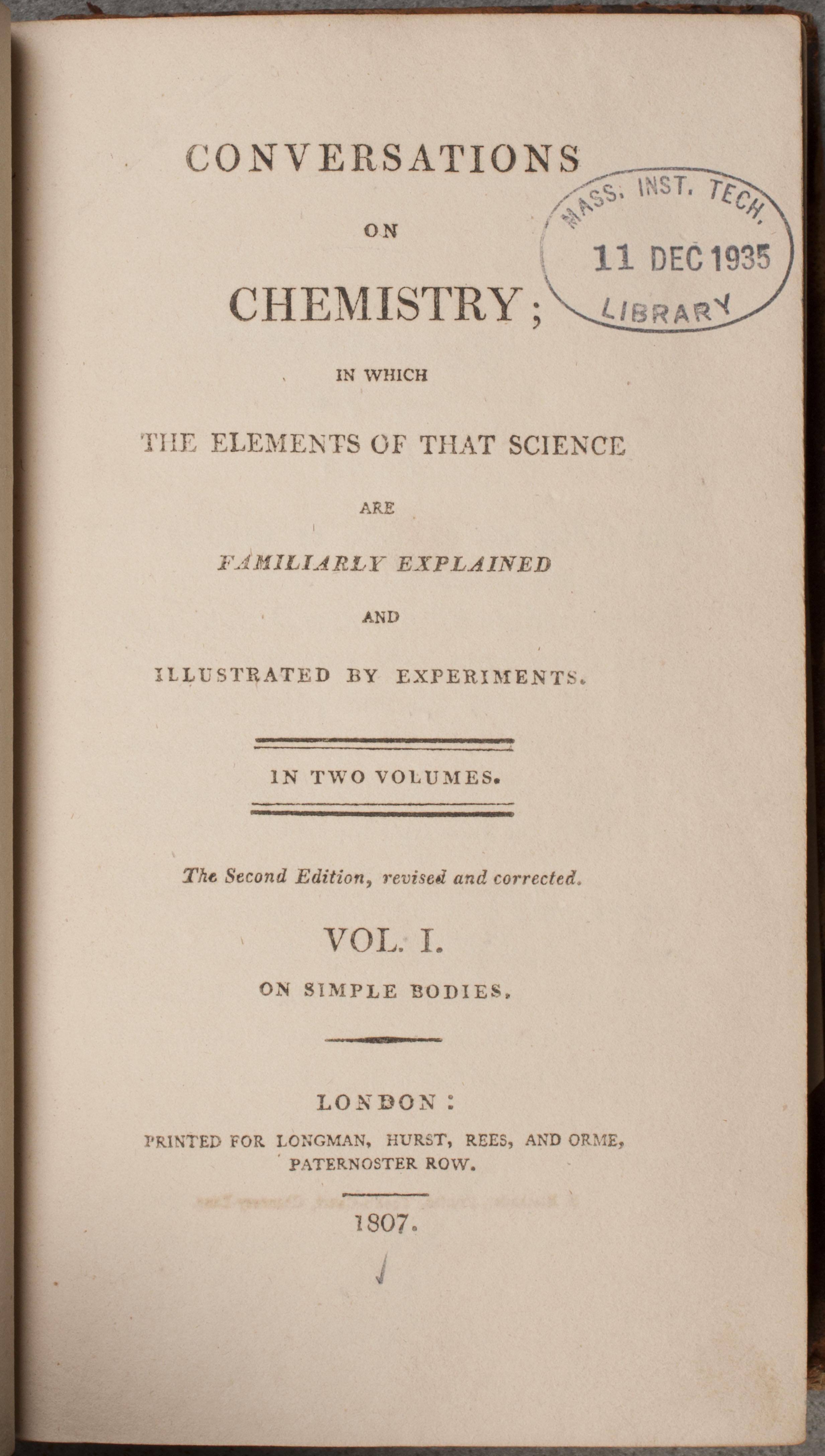 jane marcet on chemistry mit libraries special collections