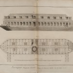Plate X: Commercial bathing boat on the Seine River, established 1761