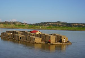 Barge on the Irrawaddy River