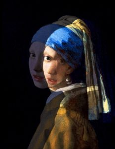 Altered version of The Girl with the Pearl Earring