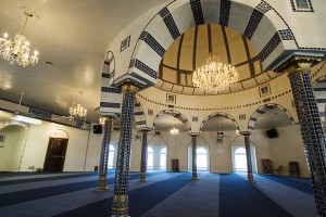 Interior of a community mosque