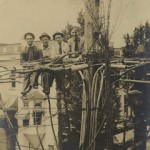 workers on wires