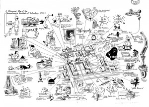 Whimsical Map of MIT, 1944-45
