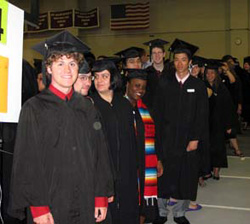 Lining up for Commencement, 2010