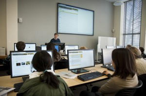 Class in the Digital Instruction Resource Center