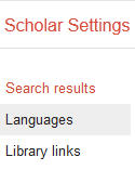 Image of library links list