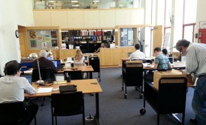 photo of the Institute Archives reading room