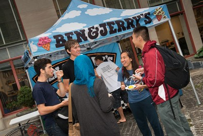 Freshman Explorations: Ice Cream Social (photo: L. Barry Hetherington)