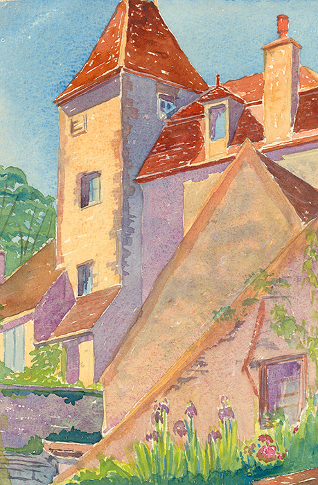 Watercolor by architect Eleanor Manning (Class of 1906)
