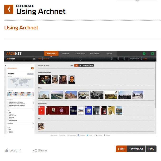 using archnet