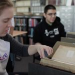 students with rare books