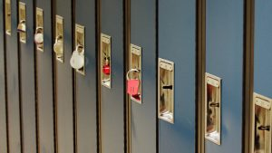 Row of school lockers