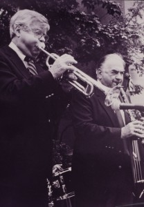 Herb Pomeroy playing trumpet