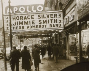 Apollo marquee showing Pomeroy's name
