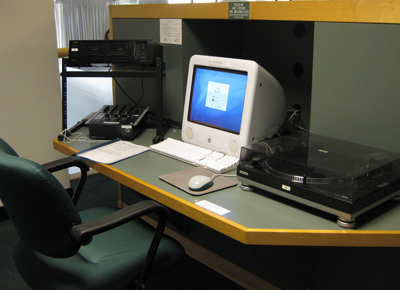 photo of Music Library computer